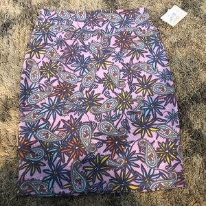 NWT Lularoe Cassie Skirt Size Large Multi Color
